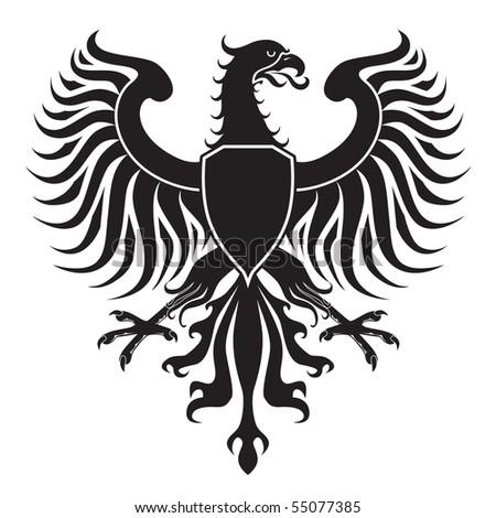 Original eagle crest. JPEG version. - stock photo