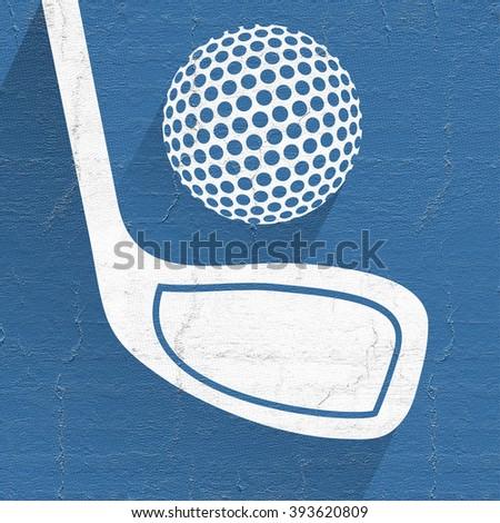 original golf symbol - stock photo