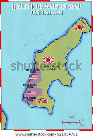 Original hand drawn map us invasion stock illustration 621054761 original hand drawn map us invasion of japanese occupied saipan in world war 2 gumiabroncs Gallery