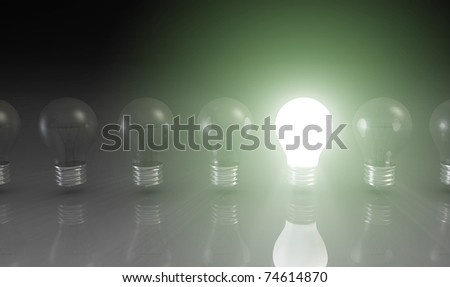 Original Idea and Resourceful Thinking as Concept - stock photo