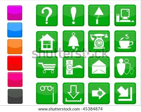 Original internet design icon set - stock photo