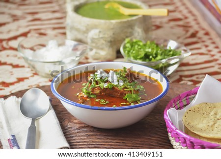 Original Jalisco style birria, mexican beef stew - stock photo