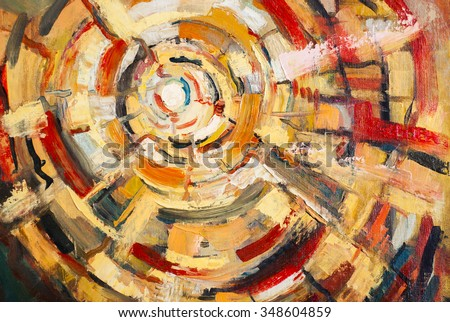 Original oil painting on canvas.Abstracts,the art - stock photo