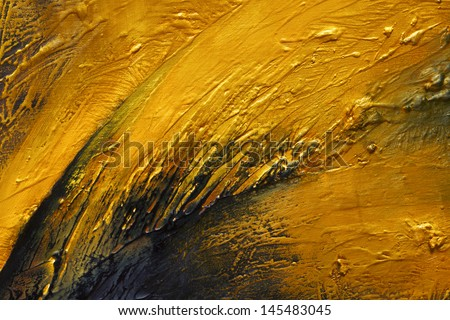 Original Oil Painting on canvas, closeup, thick oil layers, hand painted  - stock photo