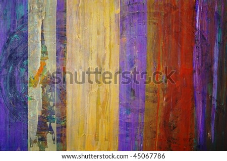 original oil painting on canvas for giclee, abstract  background or concept - stock photo