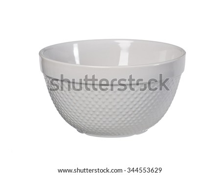 Original sandstone bowl with dots isolated on white background