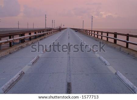 Original Seven Mile Bridge - stock photo