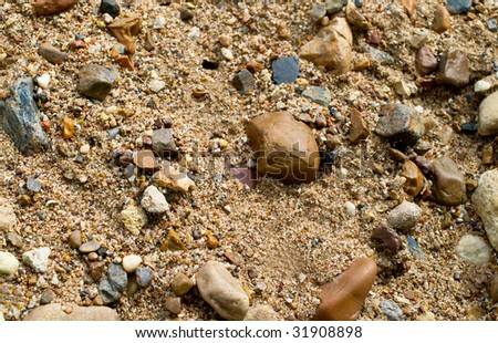 Original structure of stones on sand