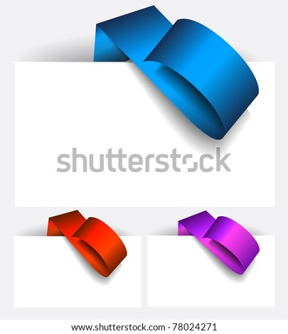 Original Style Paper Tag with delicate shadows. Ready to copy and paaste on every surface. - stock photo