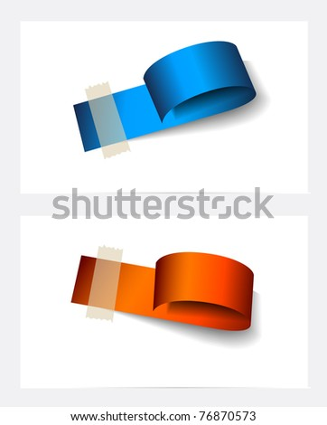 Original Style Paper Tag with TRANSPARENT shadows. Ready to copy and paaste on every surface. - stock photo