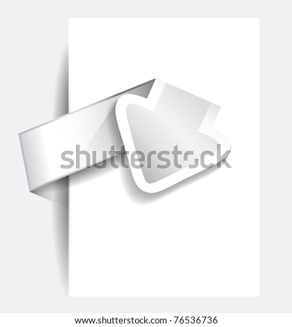 Original Style Paper Tag with TRANSPARENT shadows. Ready to copy and paste on every surface. - stock photo