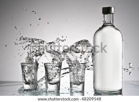 original vodka splash - stock photo
