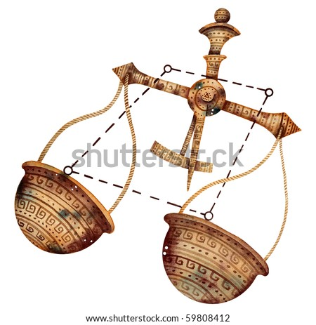 Original zodiac symbol of Libra - stock photo