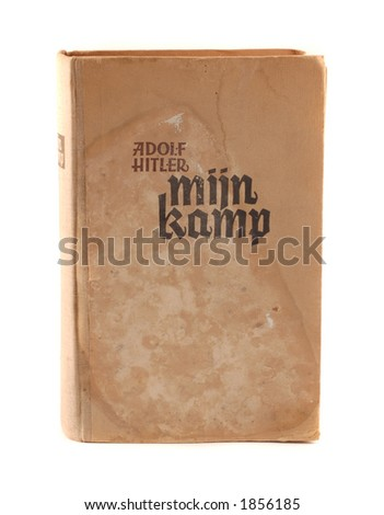 "originall 1942 Dutch kopie of Adolf Hitler's book ""mein kampf"". - stock photo"