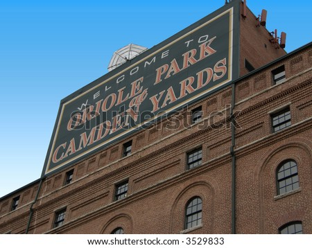 Oriole Park at Camden Yards Sign - stock photo