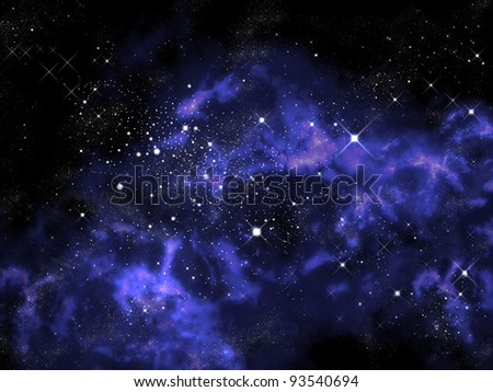 Orion and star in the universe - stock photo
