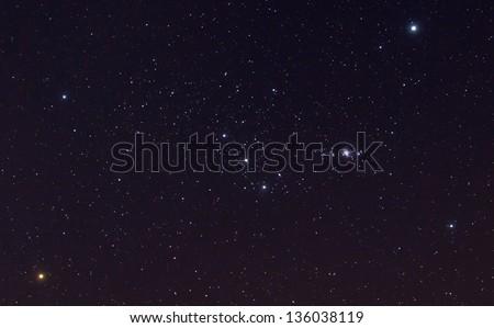 Orion constellation - stock photo