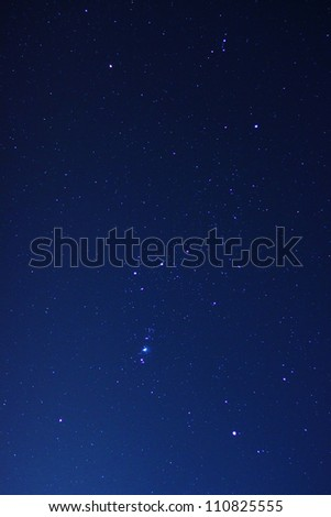 Orion constellation in night sky - stock photo
