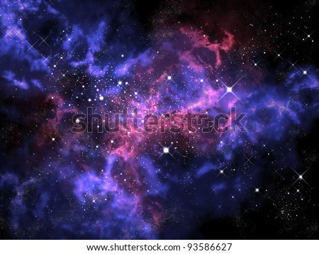 Orion in the universe - stock photo