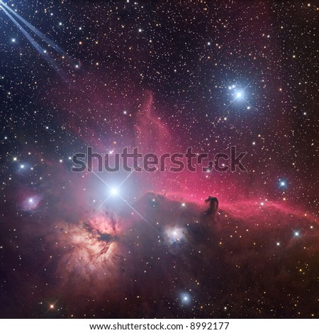 Orion's belt nebular complex - stock photo