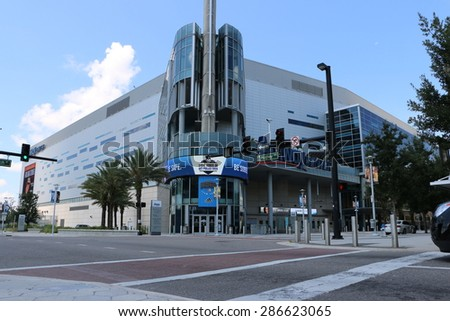 ORLANDO, FL - June 9 2015:Orlando's Amway Center home of the Orlando Magic.Located in Orlando Florida on June 9 2015.