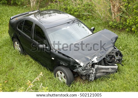 ORLANDO, FLORIDA - SEPTEMBER 28:  Car shows damage sustained after an accident with another vehicle.  Taken September 28, 2016 in  Florida.