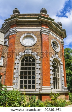 Orleans House (or Orleans House Gallery) - art exhibition venue of Greater London Borough of Richmond upon Thames. Famous 18th century interior design of Palladian villa near banks of River Thames. - stock photo