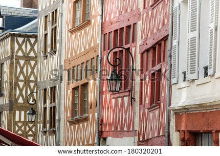 Orleans traditional houses, France.