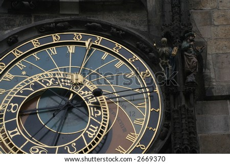 Orloj - astronomical clock at the Prague Old Town Square, Czech Republic