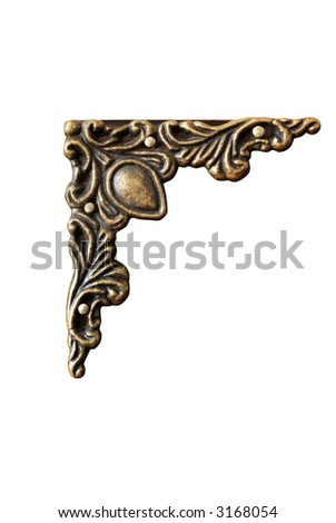 ornament, clipping path included - stock photo