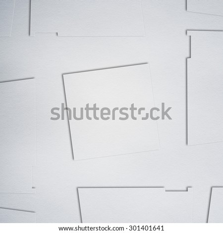 ornament of white paper, background texture - stock photo