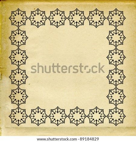 ornament on grunge background - stock photo