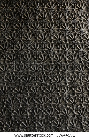 ornament on metal surface - stock photo