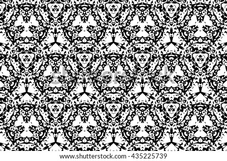 Ornament with black and white patterns. S