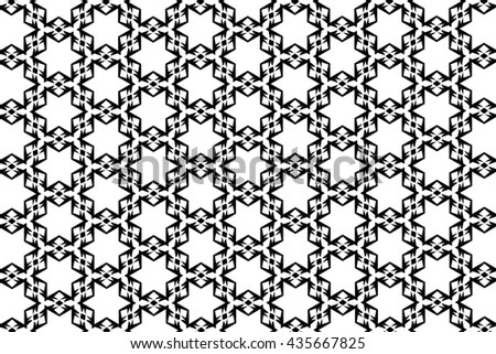 Ornament with black and white pieces. E