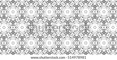 Ornament with elements of black and white colors. B