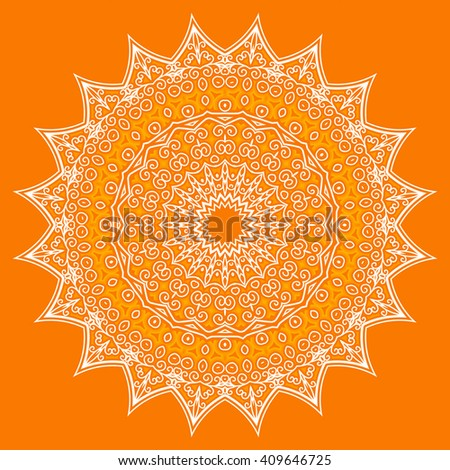 Ornamental circle. Template design for invitation card.