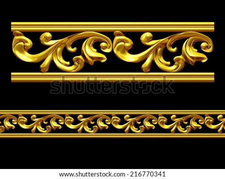 ornamental Element for a frieze, border or frame.This complements my ninety degree angle items for a circle or corner. See set, decorative ornaments, in my portfolio - stock photo