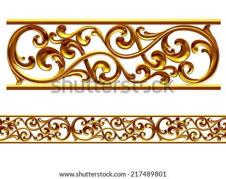 ornamental Element for a frieze, border or frame. This complements my ninety degree angle items for a circle or corner. See set, decorative ornaments, in my portfolio - stock photo