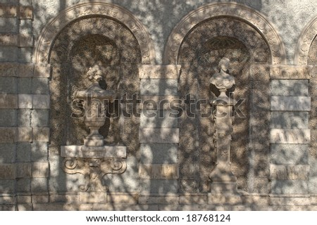 Ornamental Facade on a Building in Munich - stock photo