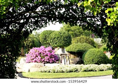Ornamental garden - stock photo