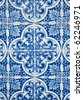 Ornamental old typical tiles from Portugal. - stock photo