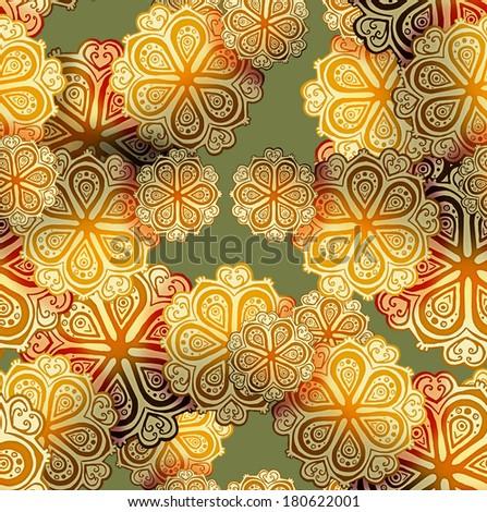 Ornamental seamless pattern  - stock photo