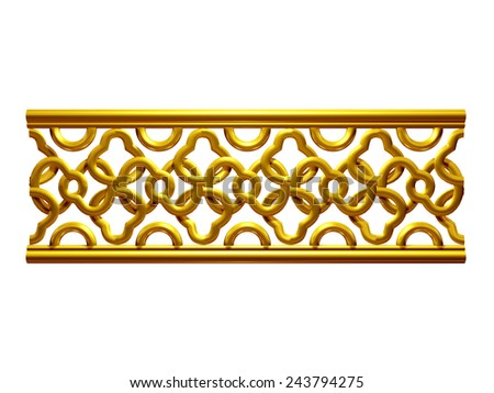 ornamental Segment for a frieze, border or frame. This complements my ninety degree angle items for a circle or corner Number 56. See Set decorative ornaments in my portfolio - stock photo