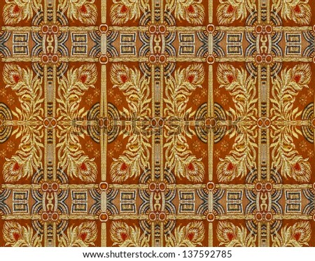 Ornamental textured background in orange and yellow tones. - stock photo