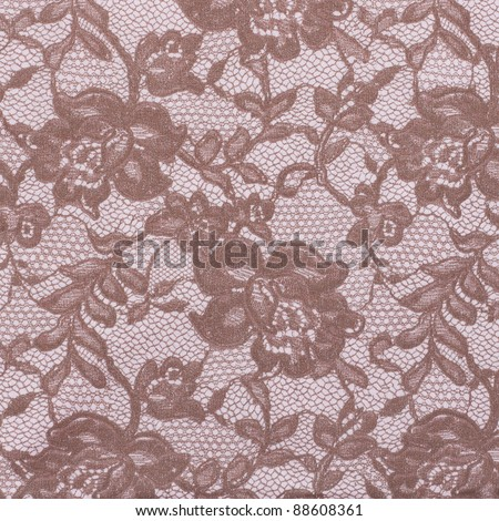 Ornamental wine-colored and soft pink floral vintage background (low contrast) - stock photo
