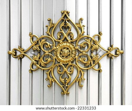 ornamental work of iron - stock photo