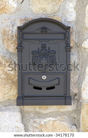 Ornamented Mailbox - stock photo