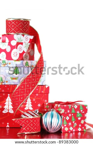 Ornaments and Christmas decorations - stock photo