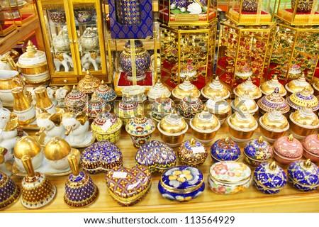Aladdin Style Lamps On Market Muscat Stock Photo 170928269